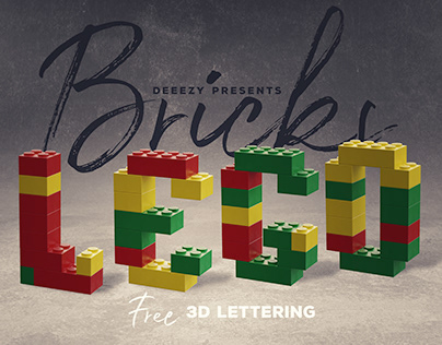 Free Toy Bricks 3D Lettering