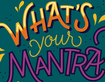 Lettering | Mantras for Myself