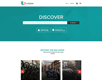 Redesign landing page for UTEENI