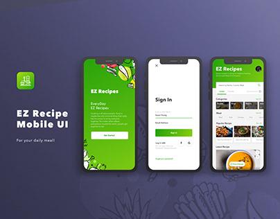 EZ Recipes App UI | Free Download Sketch File