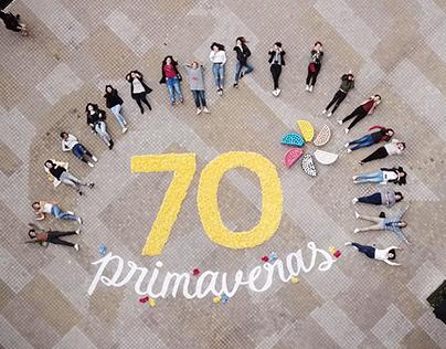 70 Primaveras: instalación tipográfica para aniversario