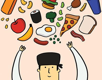Food Editorial Illustration