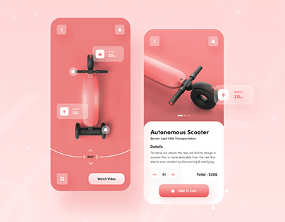 Electric Scooter Mobile UI