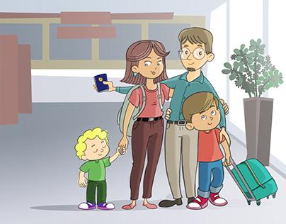 Família pronta pra viajar