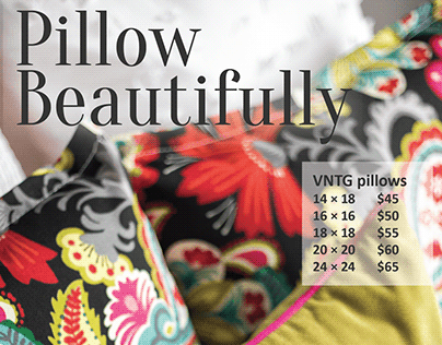 VNTG Home Pillow Promotion