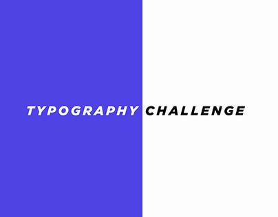 Typography Challenge | Combinations