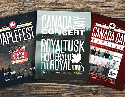 Canada Day Concert Poster Concepts