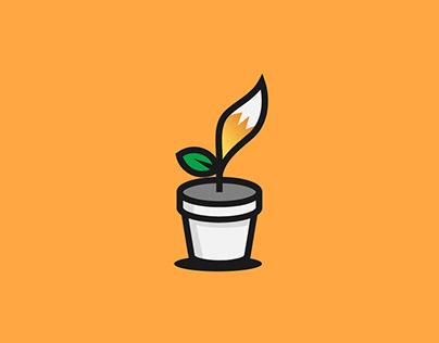 Iconic Pot Plant Graphics Design