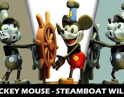 Figura Fan Art Mickey Mouse - Steamboat Willie