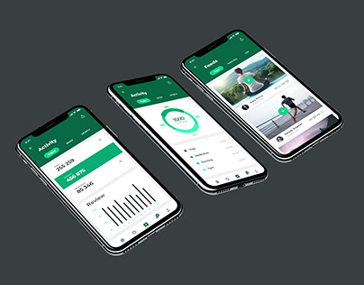 Activity Feed screen design for fitness mobile app
