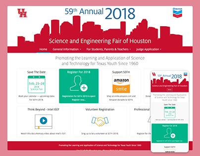 Science and Engineering Fair of Houston Website