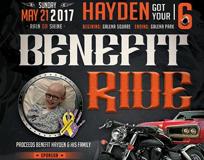 Hayden 6 Benefit Ride