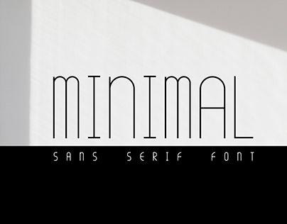 Minimal Font