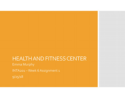 Health and Fitness Center Project