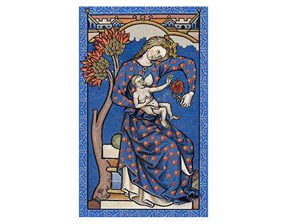 The Templars Tarot cards deck illustration