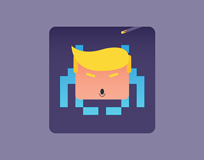 Trump Space Invaders Icon