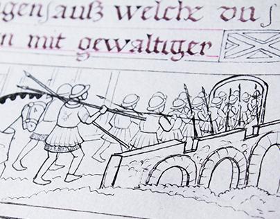 Copy of a medieval manuscript №2 #WIP