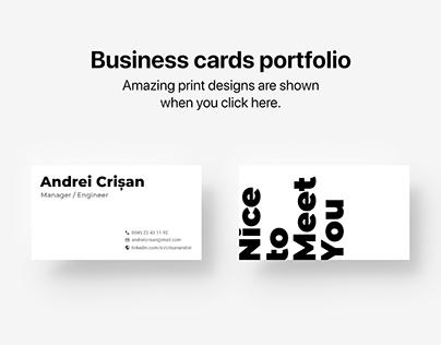 Business Cards Portfolio