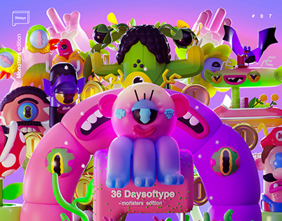 36DAYSOFTYPE - MONSTERS EDITION