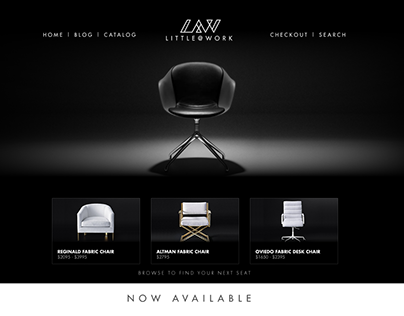 Luxurious Armchair Website Concept