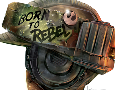 BORN to REBEL - Star Wars Rogue One Vector