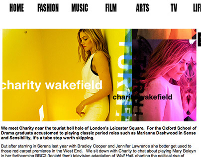 CHARITY WAKEFIELD  Tearsheets from 1883magazine.com