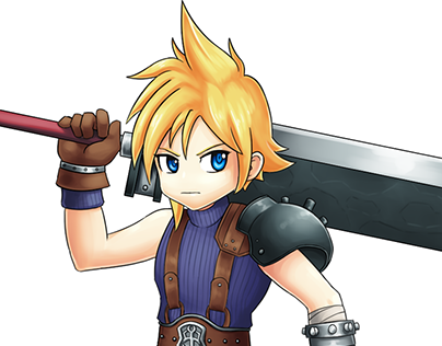 Cloud Strife - Grand Chase Style