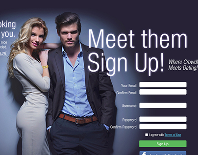 Landing Page for Dating Site