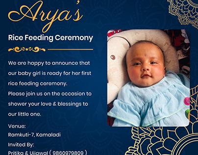 Rice Feeding Ceremony Design