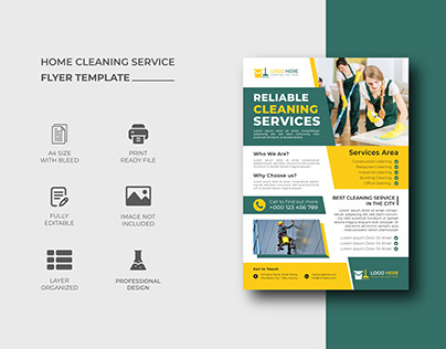 House Cleaning Service Flyer Template Design