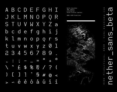 nether_sans [Command line typeface]
