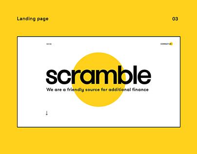 Scramble — landing page