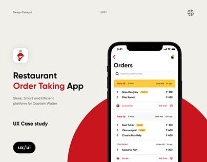 Take Order - UX Case study