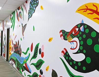 Mural Oficinas de Advertising