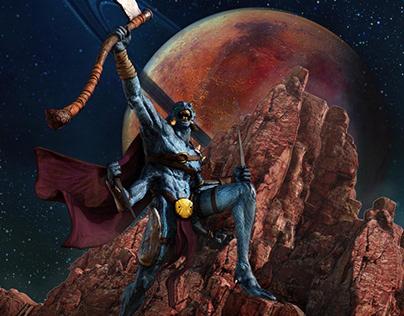 Alien Creature Concept for 3d Wolrd Mag 276