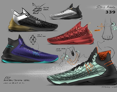 SKETCHES OF LOWER PRICE BASKETBALL FOOTWEAR