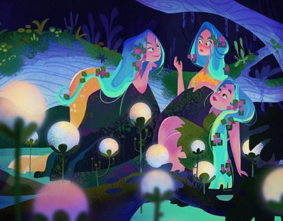 Under the lights| Illustration