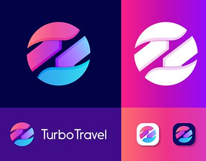 TurboTravel Logo Design | T Letter Mark