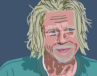 Brad Pitt Dibujo digital