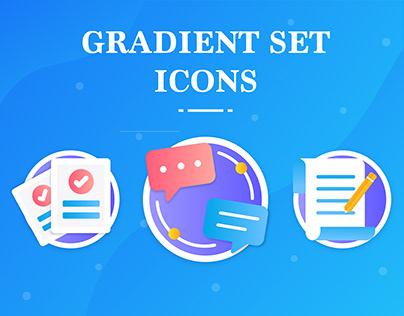 Gradient Set Icon Illustrations