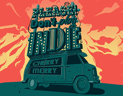 Gig Poster for Tour Cherry-Merry band