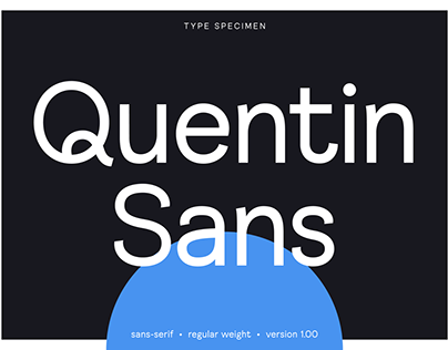 Quentin Sans Typeface