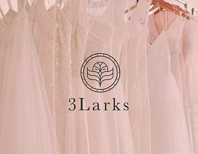 3Larks Bridal Boutique Brand Identity