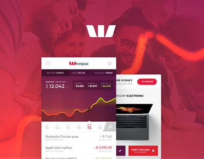 Westpac bank app Redesign - My Budget Assistant