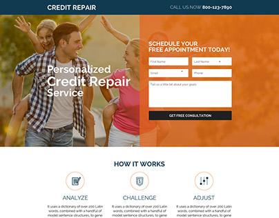 credit repair lead capture responsive landing pages