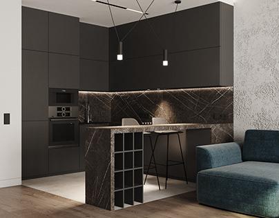 Проект квартиры площадью 74,95 мкв.