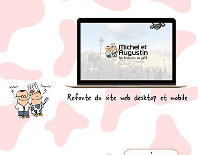 Refonte site web - Michel et Augustin - Maquette XD