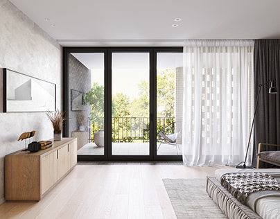 Master bedroom townhouse