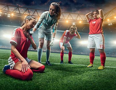 Emotions on women's football.