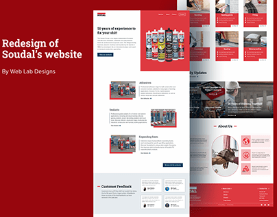 Redesign of Soudal's Website